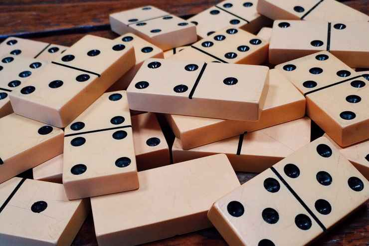 A pile of dominoes